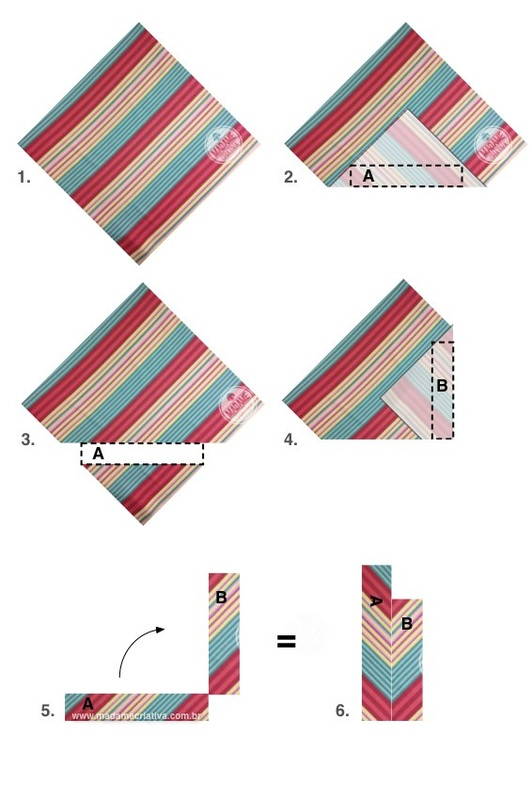 Cortando o tecido - Como revestir penteadeira com estampa Chevron ou Missoni-  Passo a passo com fotos -cutting the fabric -  How to coat a dresser with fabric Chevron or Missoni- DIY tutorial  - Madame Criativa - www.madamecriativa.com.br