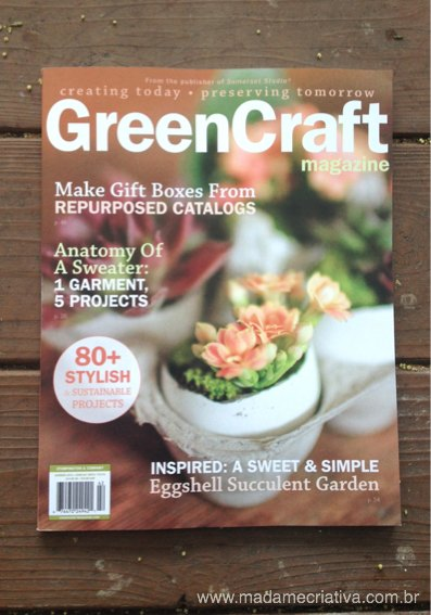 Bianca Barreto author of Madame Criativa, a DIY blog had a project published at the GreenCraft Magazine - Buy at Michaels