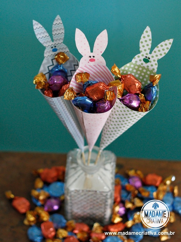 Como fazer cones com bombons- Passo a passo com fotos - How to make cones with chocolate candy- DIY tutorial  - Madame Criativa - www.madamecriativa.com.br