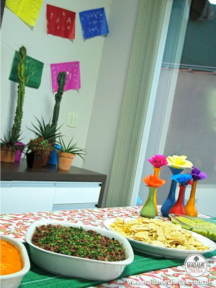 Como fazer uma happy hour mexicana na empresa- Passo a passo com fotos - How to make a mexican thematic Happy hour party at the company - DIY tutorial  - Madame Criativa - www.madamecriativa.com.br