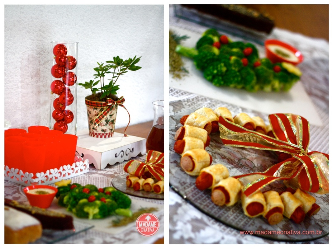 Como montar mesa de natal- Passo a passo com fotos - How to assemble a Christmas decorated table - DIY tutorial  - Madame Criativa - www.madamecriativa.com.br