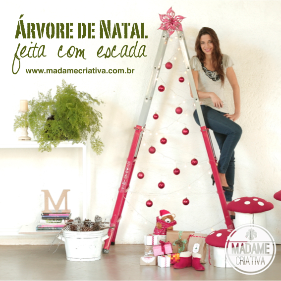 Árvore de Natal criativa e econômica feita com escada - DIY Laddr Christmas tree - Inexpensive and esay to make!